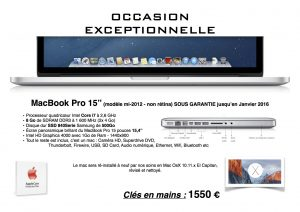 MBP 15'' Occas - 2015