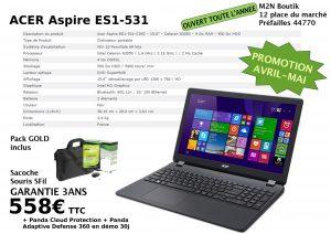 Promos Acer Aspire ES-ES1-531+pack access