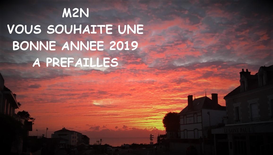 Bonne année 2019 avec M2N à Préfailles